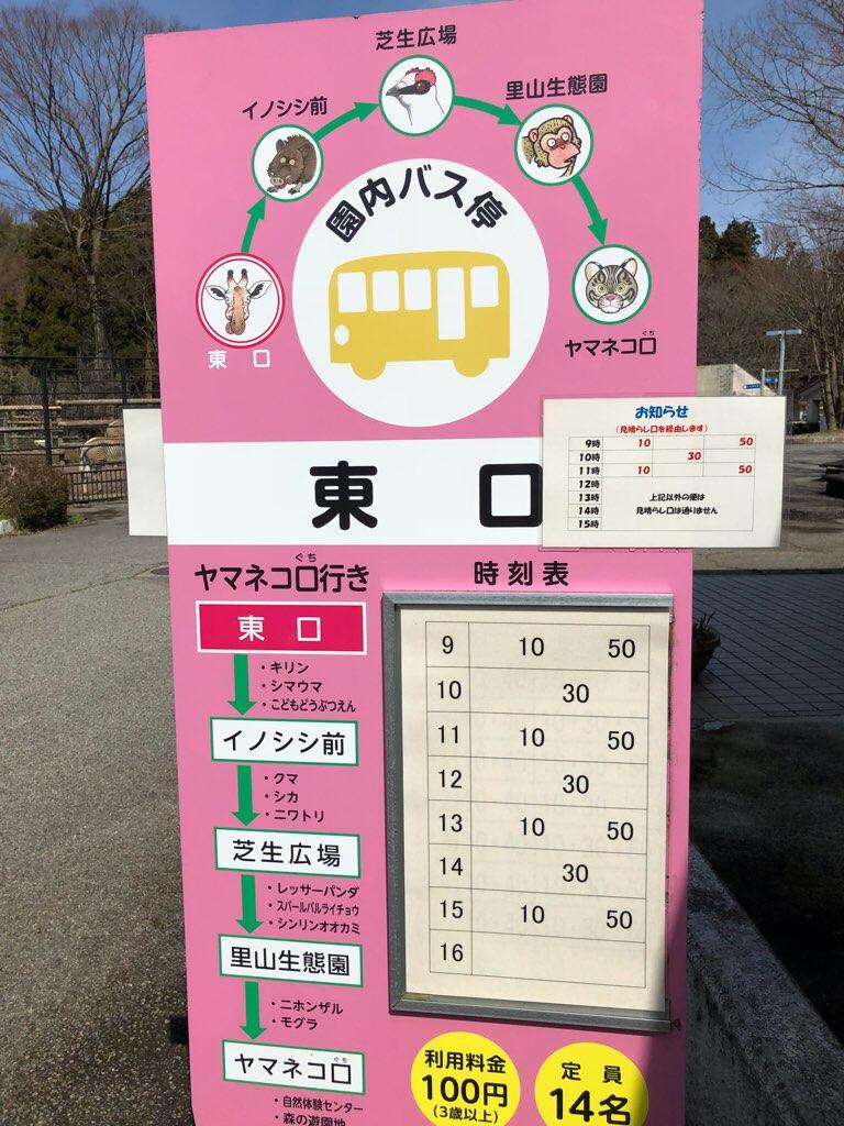 循環バスの時刻表