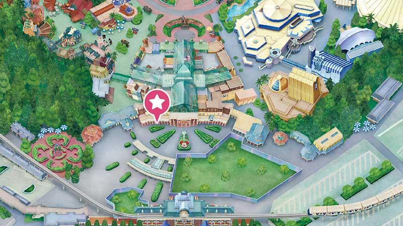 メインストリート・ハウスの地図
