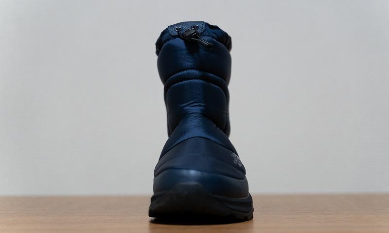 THE NORTH FACE(ザ・ノースフェイス)のスノーブーツ「ヌプシブーティーウォータープルーフVI」の足首部分