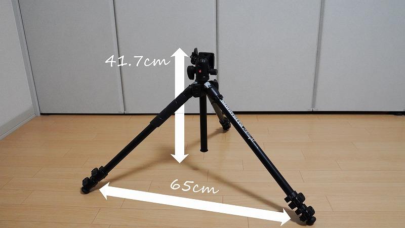 カメラ三脚【Manfrotto(マンフロット) 290 LIGHT】-最低高さ時