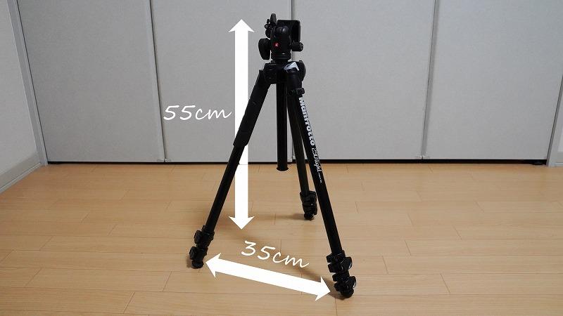 カメラ三脚【Manfrotto(マンフロット) 290 LIGHT】-通常高さ