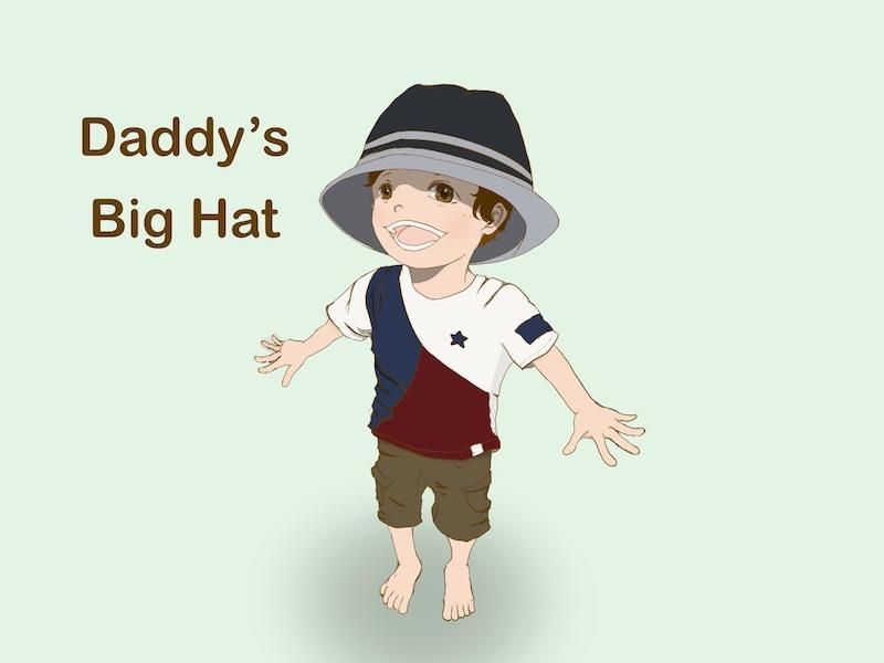 私の帽子がお気に入りの長男