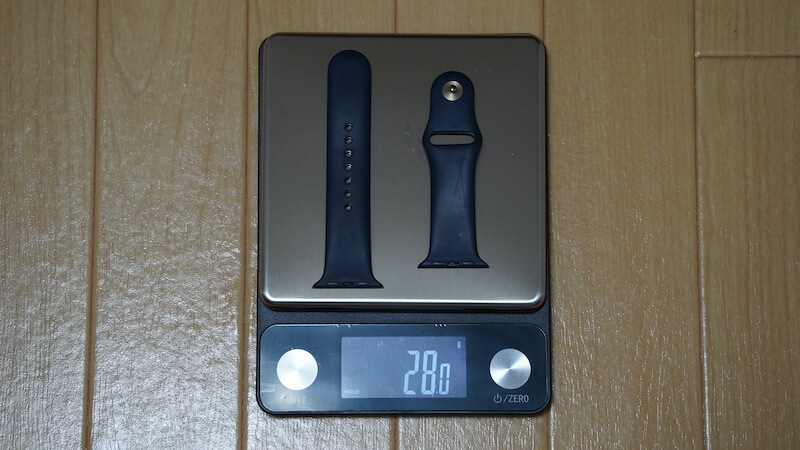 Apple Watch純正スポーツバンドの重量