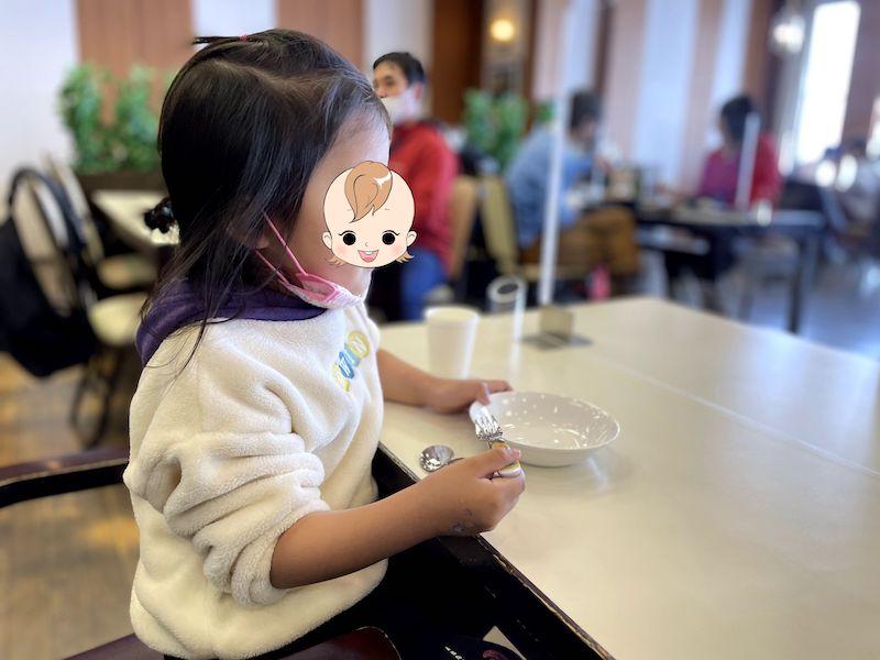 レストラン立山は子ども用の食器も完備