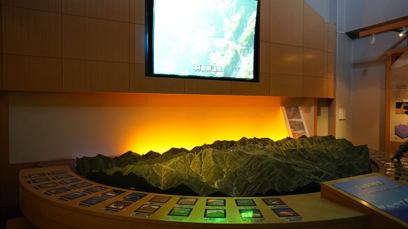 クオリティの高い立山の模型