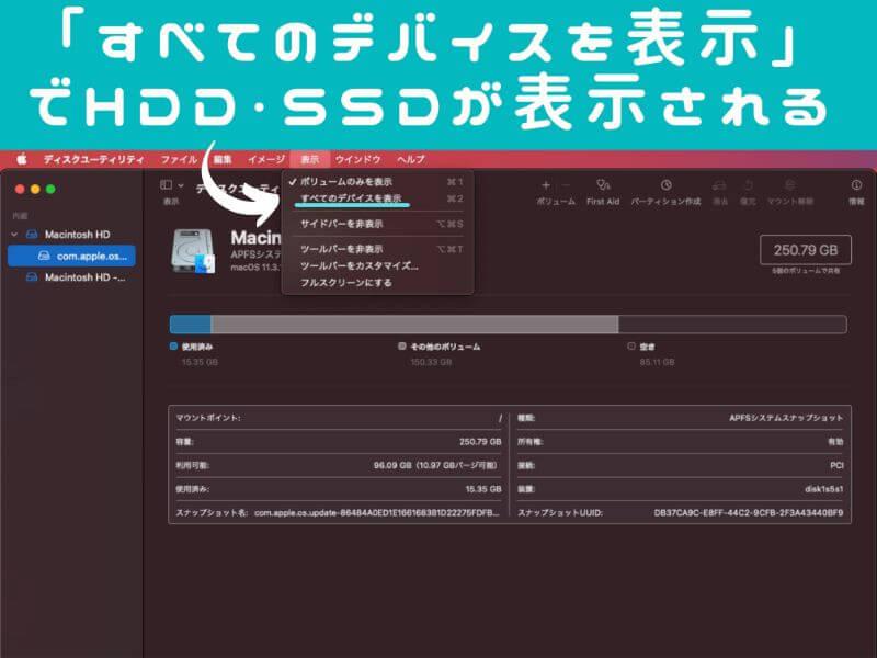 HDD・SSDが表示されない場合の対処方法-説明画像